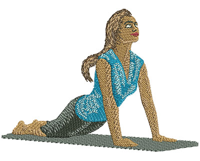 Embroidery Design: Yoga Girl Med 3.52w X 2.54h