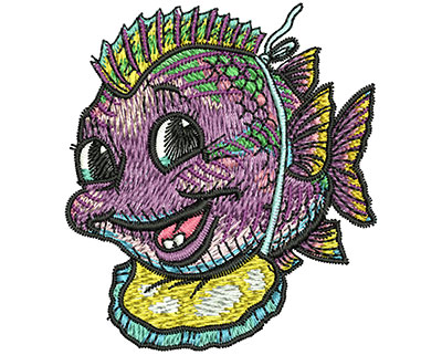 Embroidery Design: Baby Fish Med 2.24w X 2.50h