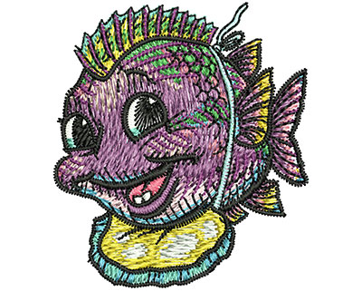 Embroidery Design: Baby Fish Sm 1.79w X 2.00h