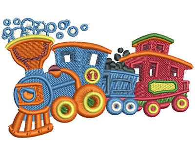 Embroidery Design: Bubble Train Sm 3.51w X 2.20h