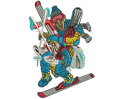 Embroidery Design: Gear Up Winter Vacation Med 2.40w X 3.54h