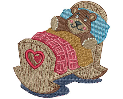 Embroidery Design: Rocking Crib Lg 4.02w X 4.03h
