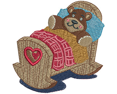 Embroidery Design: Rocking Crib Med 3.53w X 3.53h