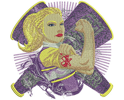 Embroidery Design: Cheerleading Strong Lg 6.27w X 5.94h
