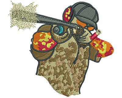 Embroidery Design: Shotgun Pointing M 3.53H X 3.87W