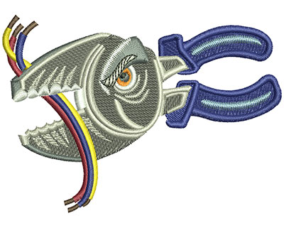 Embroidery Design: Angry Wire Cutters Lg 4.00w X 2.83h