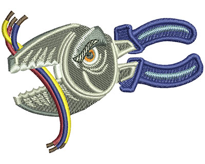 Embroidery Design: Angry Wire Cutters Sm 3.00w X 2.13h
