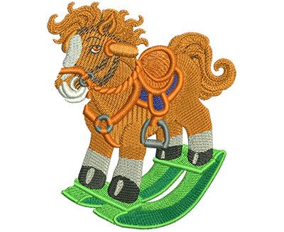 Embroidery Design: Rocking Horse Lg 2.88w X 3.48h