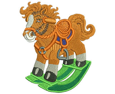 Embroidery Design: Rocking Horse Med 2.47w X 2.97h