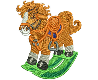 Embroidery Design: Rocking Horse Sm 2.05w X 2.48h