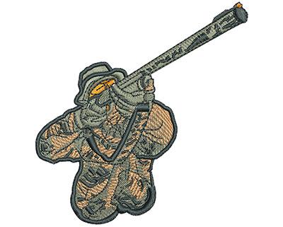 Embroidery Design: Hunter Aim Lg 3.69h X 3.52w
