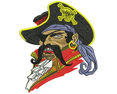 Embroidery Design: Buccaneer Med 3.82w X 4.51h
