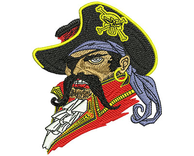 Embroidery Design: Buccaneer Sm 3.41w X 4.02h