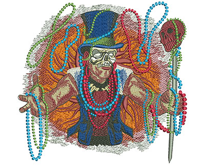 Embroidery Design: Mardi Gras Baron Lg 6.30w X 6.01h