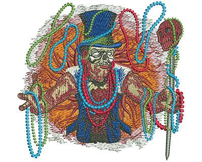 Embroidery Design: Mardi Gras Baron Sm 4.20w X 4.01h