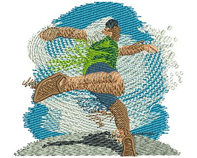 Embroidery Design: Track Discus Sm 2.52w X 2.30h