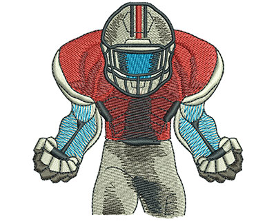 Embroidery Design: Football Anger Lg 3.39w X 3.49h
