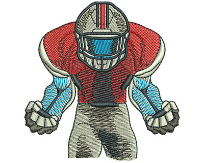 Embroidery Design: Football Anger Med 2.91w X 2.99h