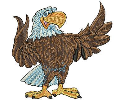 Embroidery Design: Friendly Eagle Lg 4.11w X 3.99h
