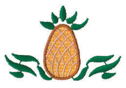 """Embroidery Design: Pineapple Ender2.75"""" x 1.76"""""""