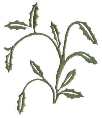 """Embroidery Design: Leaves Embellishments3.45"""" x 3.43"""""""