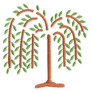 "Embroidery Design: Weeping Willow3.25"" x 3.23"""