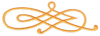 "Embroidery Design: Scroll Work Embellishment3.49"" x 1.41"""