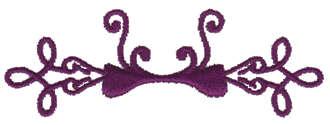 """Embroidery Design: Pretty Bow Embellishment3.51"""" x 1.20"""""""