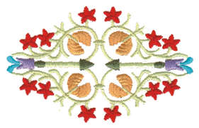 """Embroidery Design: Collage Embellishment2.19"""" x 3.51"""""""