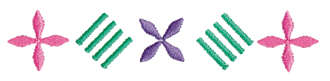 """Embroidery Design: Lines and Flower Ender4.00"""" x 0.77"""""""
