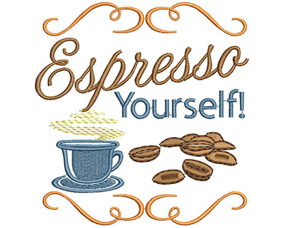 Embroidery Design: Espresso YourselfH=4.87 X W=4.66