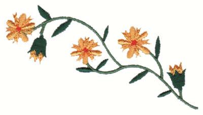 "Embroidery Design: Flower Sprig Embellishment3.99"" x 2.12"""