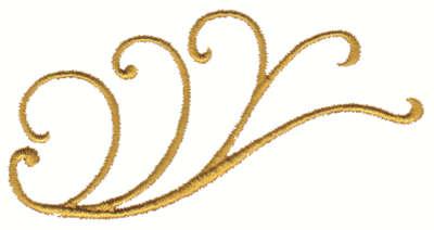 "Embroidery Design: Iron-Work Embellishment4.02"" x 2.03"""
