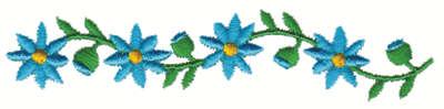 """Embroidery Design: Daisy Chain4.00"""" x .88"""""""