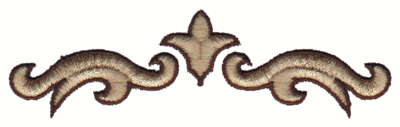 """Embroidery Design: Stylized Scroll Work Line4.01"""" x 1.18"""""""