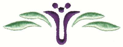 """Embroidery Design: Stylized U Flower Line3.73"""" x 1.39"""""""