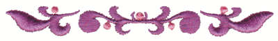 "Embroidery Design: Whispy Vine Embellishment3.98"" x .47"""