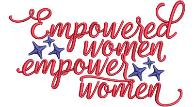 Embroidery Design: Empowered Women Empower Women Sm 4.89w X 2.94h