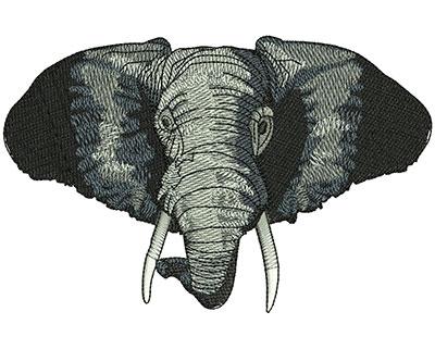 Embroidery Design: Elephant Head Lg 5.50w X 3.57h