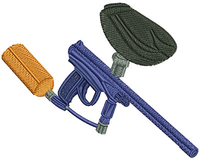 Embroidery Design: Paintball Gun Lg 4.00w X 3.15h