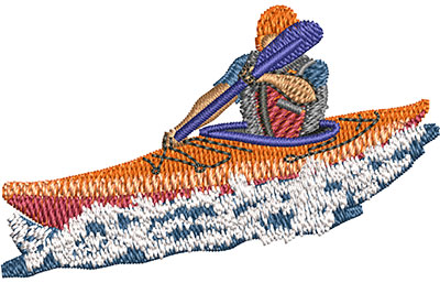 Embroidery Design: Kayaking Sm 2.45w X 1.52h