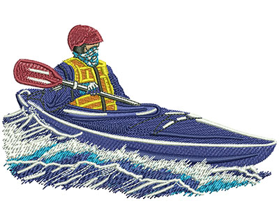 Embroidery Design: Kayak Cold Lg 4.53w X 2.87h