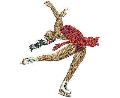 Embroidery Design: Figure Skating Spin Lg 2.92w X 3.52h