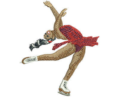 Embroidery Design: Figure Skating Spin Med 2.51w X 3.02h