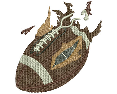 Embroidery Design: Football Exploding Ball Lg 4.18w X 4.45h