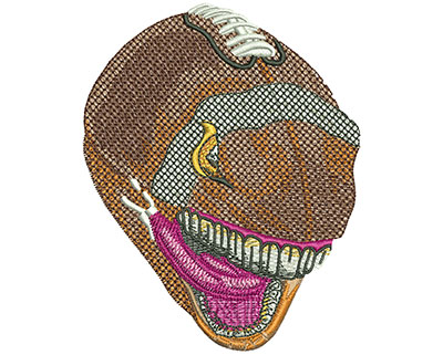 Embroidery Design: Football Angry Ball Lg 3.16w X 3.98h