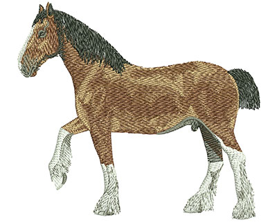 Embroidery Design: Clydesdale Lg 4.47w X 4.03h
