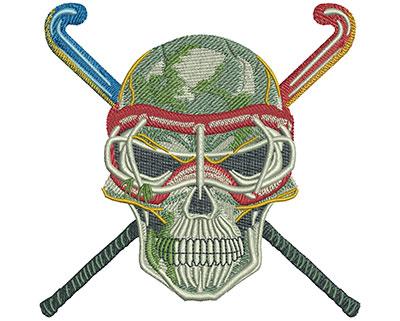 Embroidery Design: Field Hockey Lg 4.57w X 4.49h