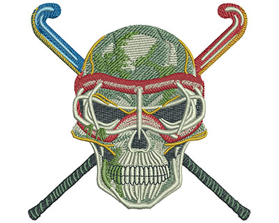 Embroidery Design: Field Hockey Med 4.07w X 4.00h