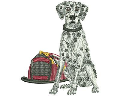 Embroidery Design: Fire Dalmatian Lg 3.65w X 4.43h